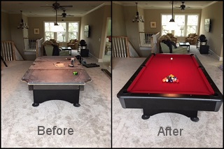 Pool table recovering pool table cloth in Indianapolis content img2